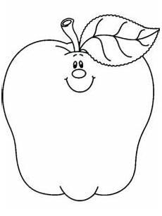 Gambar Mewarnai Buah Apel Untuk Anak Tk Sd Dan Paud