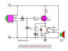motion detector alarm circuit with pir sensor simple and