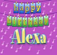Image result for happy birthday alexa