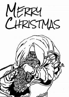 merry christmas drawing by gomer robinson