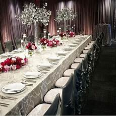a silver and red wedding would be great for a winter