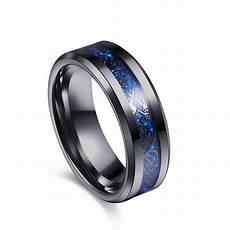 eejart black 316l stainless steel ring for wedding band blue carbon fiber ring des nibelungen