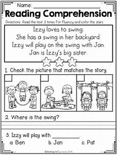 free kindergarten reading comprehension spring edition tpt