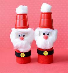 craft for toilet paper roll santas
