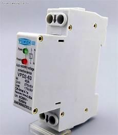 electricité 220 volts electricite protection 220v surtension 40a mince