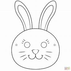 bunny mask coloring page free printable coloring pages