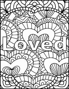 i am loved coloring page inspiring message coloring