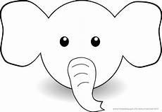 Einfache Malvorlage Elefant Ausmalbilder Sonstige Tiere