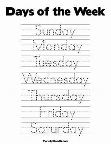 cursive handwriting worksheets days of the week 21350 day of the week mundo infantilandia days of the week worksheets
