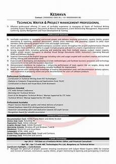 technical writer sle resumes download resume format templates