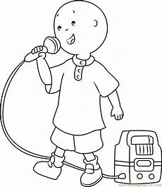 caillou singing coloring page free caillou coloring