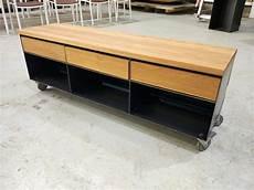 lowboard sideboard classic 003 schwarz grau eiche