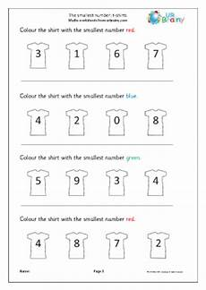 which is the smallest number tshirts ordering numbers maths worksheets for later reception age