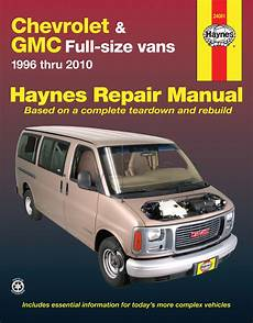 car maintenance manuals 1996 gmc savana 1500 auto manual chevrolet express gmc savana full size gas vans 96 10 haynes repair manual haynes manuals