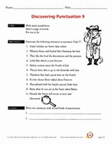 punctuation worksheets with answers grade 9 20925 discovering punctuation 9 printable 3rd 6th grade teachervision