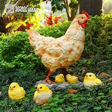 Outdoor Small Animal Decoration Resin Craft Of Chickens