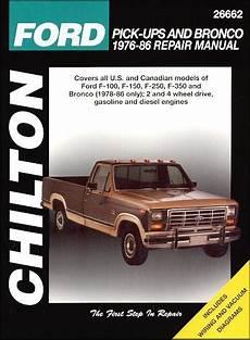 chilton ford pick ups and bronco 1976 1986 repair manual ford pick ups bronco petrol diesel 1976 1986 0801985765 9780801985768 chilton usa