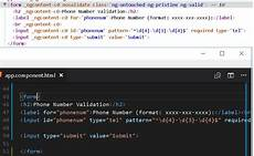 html angular 4 enable html5 validation stack overflow