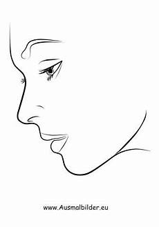 ausmalbilder gesicht im profil ausmalen gesicht