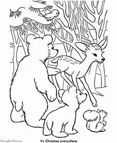 Ausmalbilder Weihnachten Tiere Printable Coloring Pages Animals