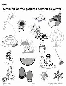 winter pre writing worksheets 20124 circle what belongs free printable winter worksheet supplyme