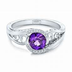 custom purple sapphire and diamond engagement ring 102080 seattle bellevue joseph jewelry
