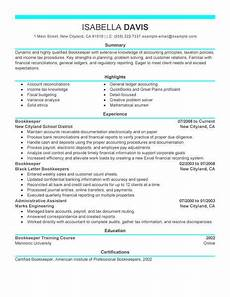 best bookkeeper resume exle from professional resume