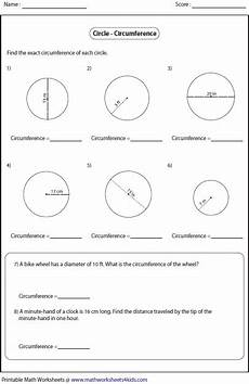 circle geometry word problems worksheets 1005 circumference and area of circle worksheets