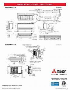 split 12 000 btu mitsubishi 23 1 seer heat pump system muzgl12nau1 mszgl12nau1