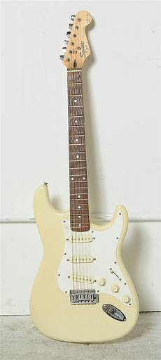 squier stratocaster by fender squier stratocaster bullet series by fender electric guitar yellow ebay