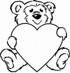 teddy holding a coloring pages clip library