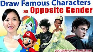 ART CHALLENGE Movie  Game Characters As OPPOSITE Gender
