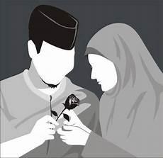 29 Gambar Kartun Romantis Suami Istri Muslim Di 2020