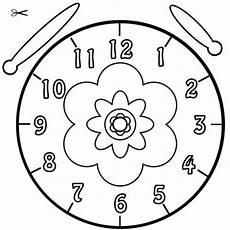 Kostenlose Malvorlage Uhrzeit Lernen Ausmalbild Bl 252 Te Zum
