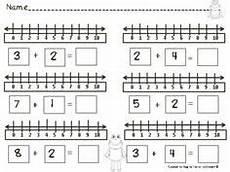 worksheets for 18166 dinosaur number line addition subtraction within 10 4 free pages kindergarten adding