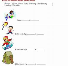 leisure time esl worksheets 3799 a worksheet for esl learners which is about some leisure time activities and seasons