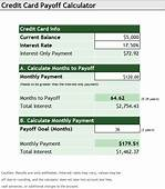 Credit Card Payoff Calculator  Template Sample