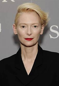 tilda swinton short side part short hairstyles lookbook stylebistro