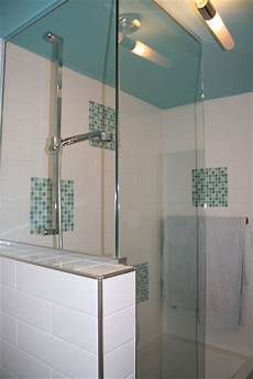 turquoise and white bathroom remodel