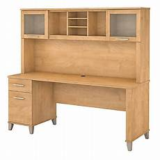 office depot home office furniture bush furniture somerset office desk with hutch 72 w maple