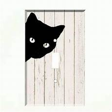 black cats light wall black cat light switch plate wall cover pet decor distressed wood ebay