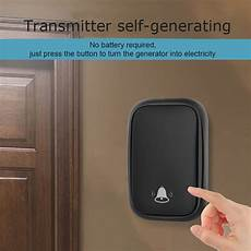 Cacazi Fa86 Self Powered Wireless Doorbell by Cacazi Fa86 Self Powered Wireless Doorbell 150m Remote No