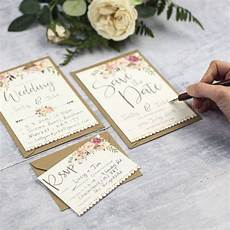 boho floral diy wedding invitation by russet and gray