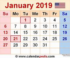 1 January 2019 31 December 2019 by January 2019 Calendars For Word Excel Pdf
