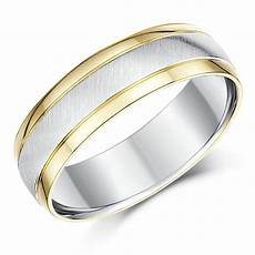 his hers 9ct yellow gold silver wedding rings 5 6mm 9ct two colour at elma uk jewellery
