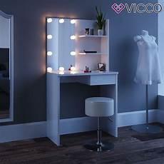vicco schminktisch wei 223 mit led beleuchtung k real