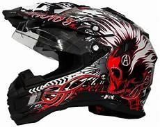 motorradhelm mit verspiegeltem visier motorradhelm mx enduro helm schwarz rot mit visier