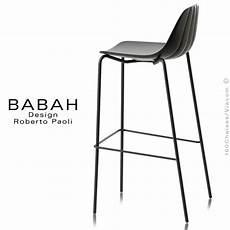Tabouret De Bar Design Babah 80 Pieds Acier Peint Assise