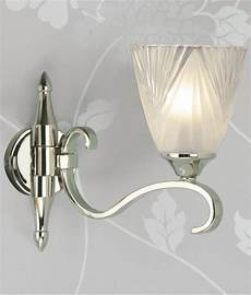 etched glass art deco wall light single or double