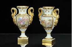 vasi capodimonte antichi coppia di vasi in stile impero in ceramica inizio xx